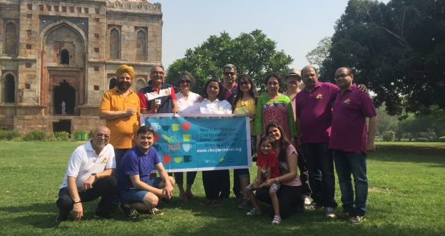 Lodhi Gardens Delhi hosts first ever Chai for Cancer Adda 1 May